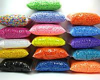 Шарики пенопластовые 2-4 мм, разные цвета, для слаймов и декора.+Подарок.