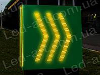 Световой рекламный указатель светодиодный въезд-выезд 1000 х 1000 мм