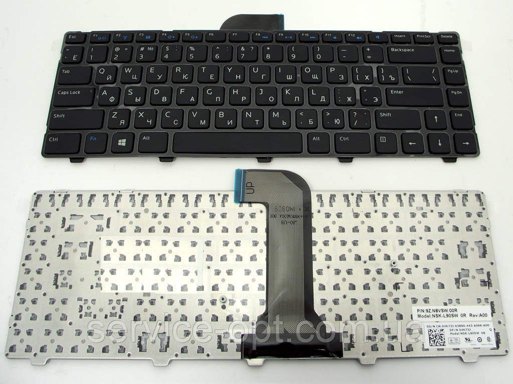 Клавиатура для ноутбука Dell Inspiron 3421, 5421, 5435, 5437, 3437, Vostro 2420, 2421, 2520, 2521( RU Black с