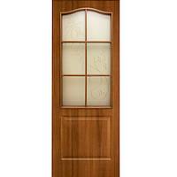 Дверь межкомнатная ОМиС Классика ЗС+КР 80 см ольха европейская со стеклом