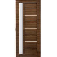Дверь межкомнатная ОМиС Cortex Deco 09 60 см дуб amber line со стеклом