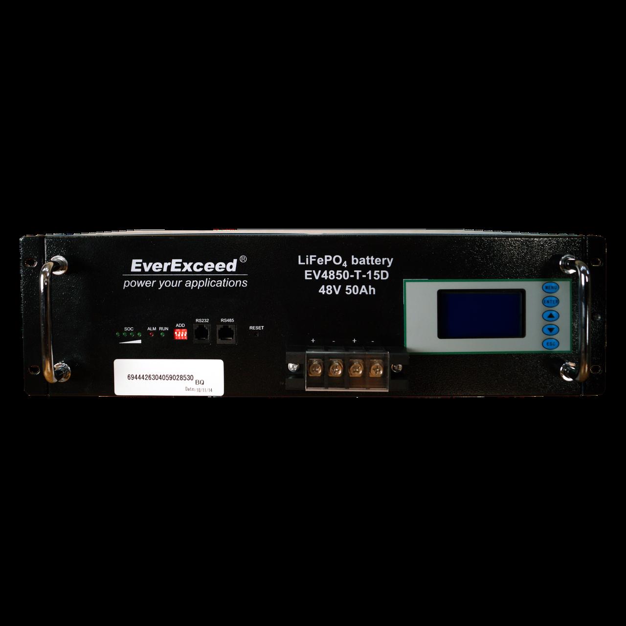 Аккумулятор литиевый EVEREXCEED EV4850-T-15D (48V/50Ah LCD)