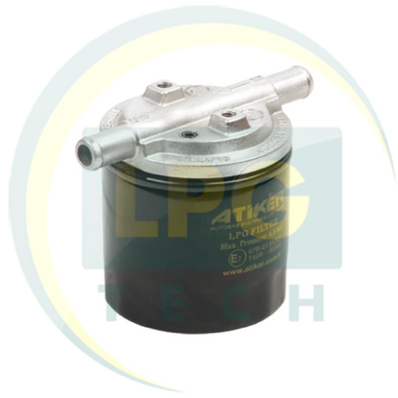 Фильтр тонкой очистки Atiker с отстойником 1 вход – 1 выход D12 мм (K01.001263)