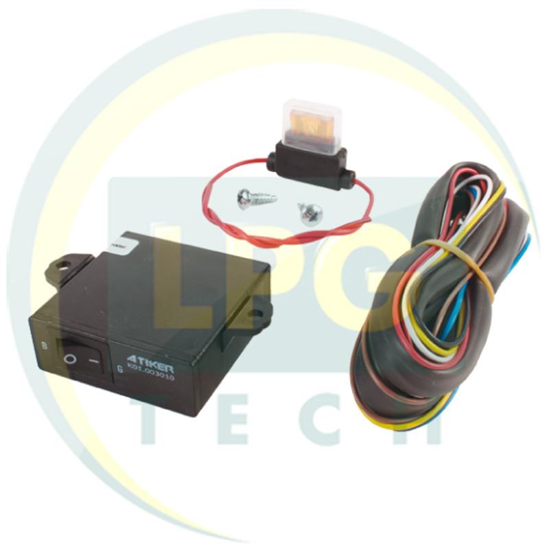 Переключатель  газ-бензин Atiker инжектор с индикацией (20 кОм)