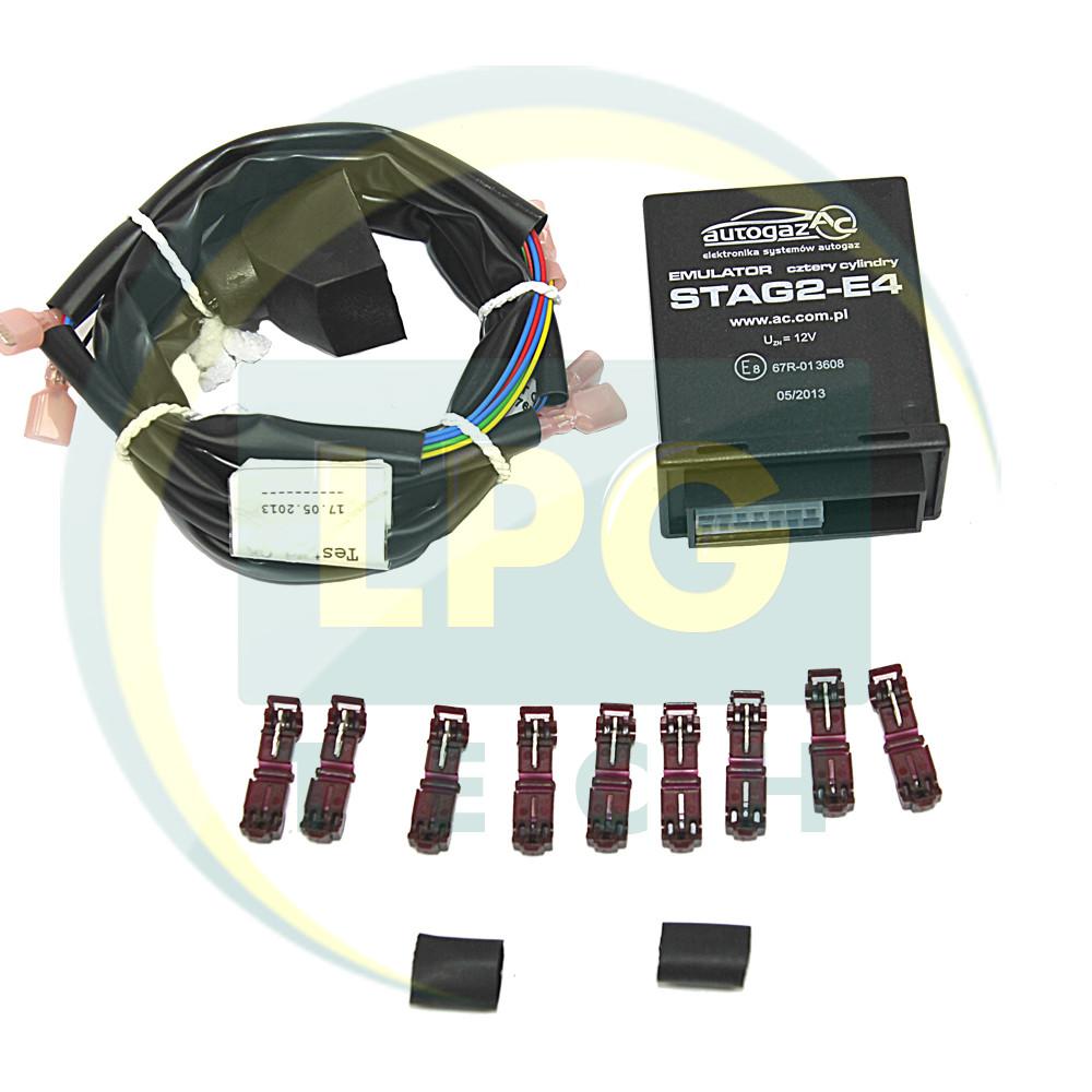 Эмулятор отключения инжектора Stag2E-4 цилиндра с универсальными разъемами