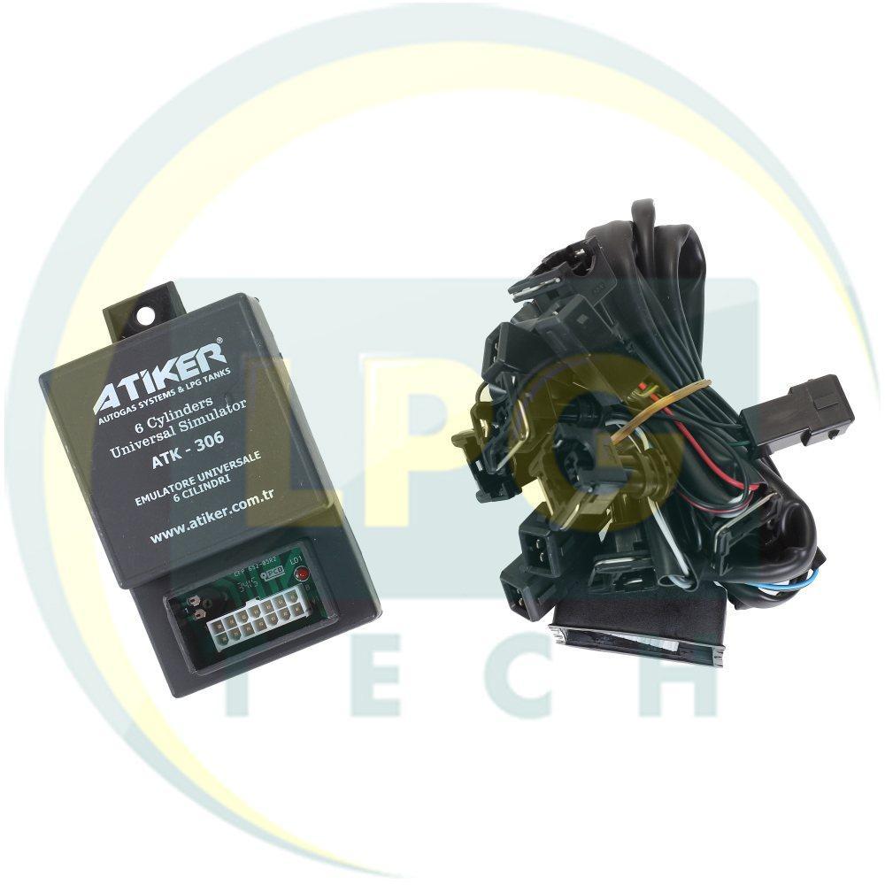 Эмулятор отключения инжектора Atiker 6 цилиндров с разъемами Europa/Bosch