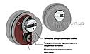 Протектор Azzi Fausto Antitubo SB WI 25 мм стандарт квадрат полированная латунь, фото 3