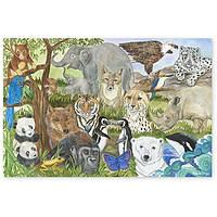 Пазл напольный Вымирающие виды животных 48 элементов Melissa & Doug (MD4437)