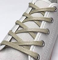 Шнурки с пропиткой плоские бежевые 70 см (Ширина 5 мм), фото 1