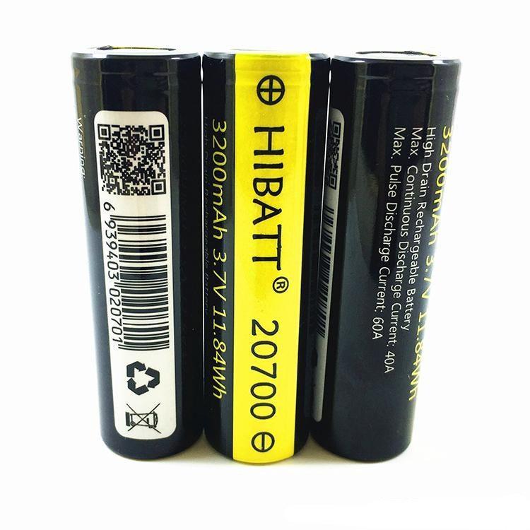 Аккумулятор HIBATT 20700  3200mAh 40A
