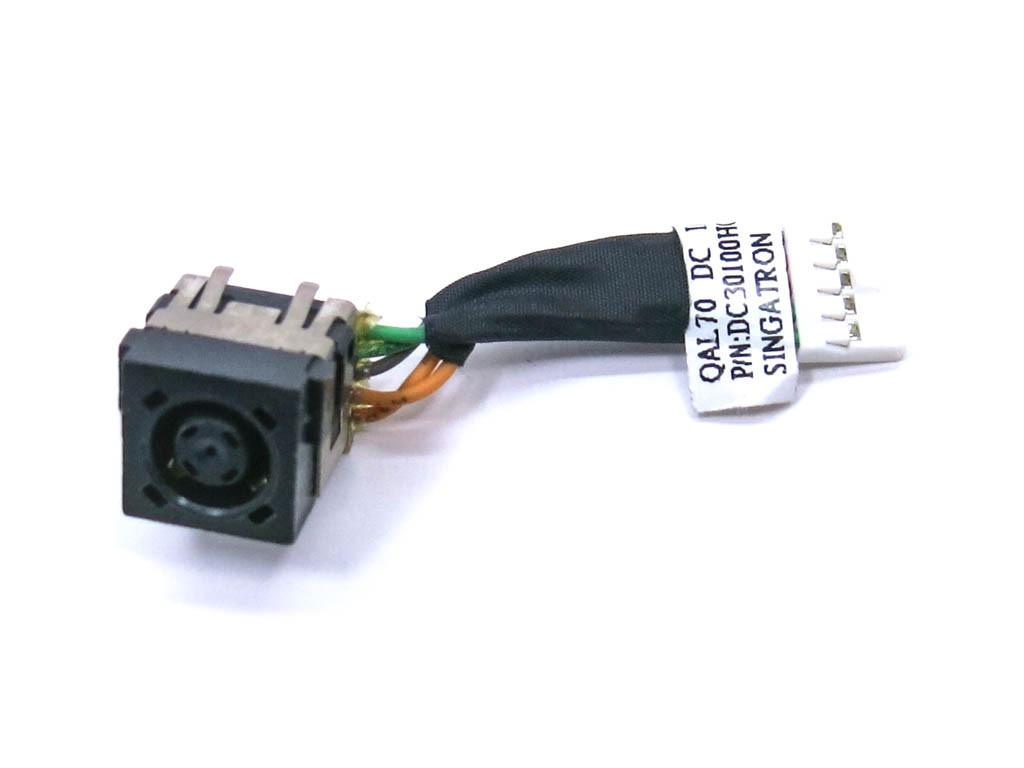 Разъем питания ноутбука Dell Latitude 6430U, E6430U, 28HV9, DC30100LT00 (7.4*5.0 Central pin) С кабелем