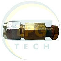 З'єднувач трубки D6(термопластик) - D6 (мідь)
