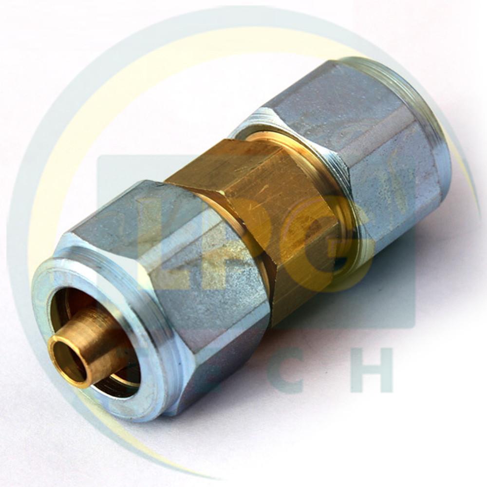 З'єднувач термопластиковой трубки D8-D8 мм