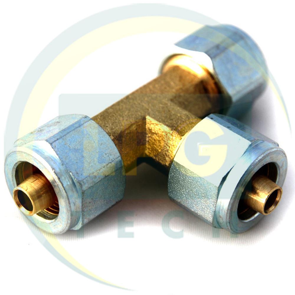 Тройник соединительный для термопластиковой трубки D8xD8xD8