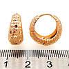 Серьги Хuping из медицинского золота, в позолоте, ХР00202 (1), фото 2