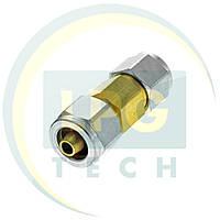 Переходник для термопластиковой трубки D6-D8 гайка+ниппель (GZ-2314)