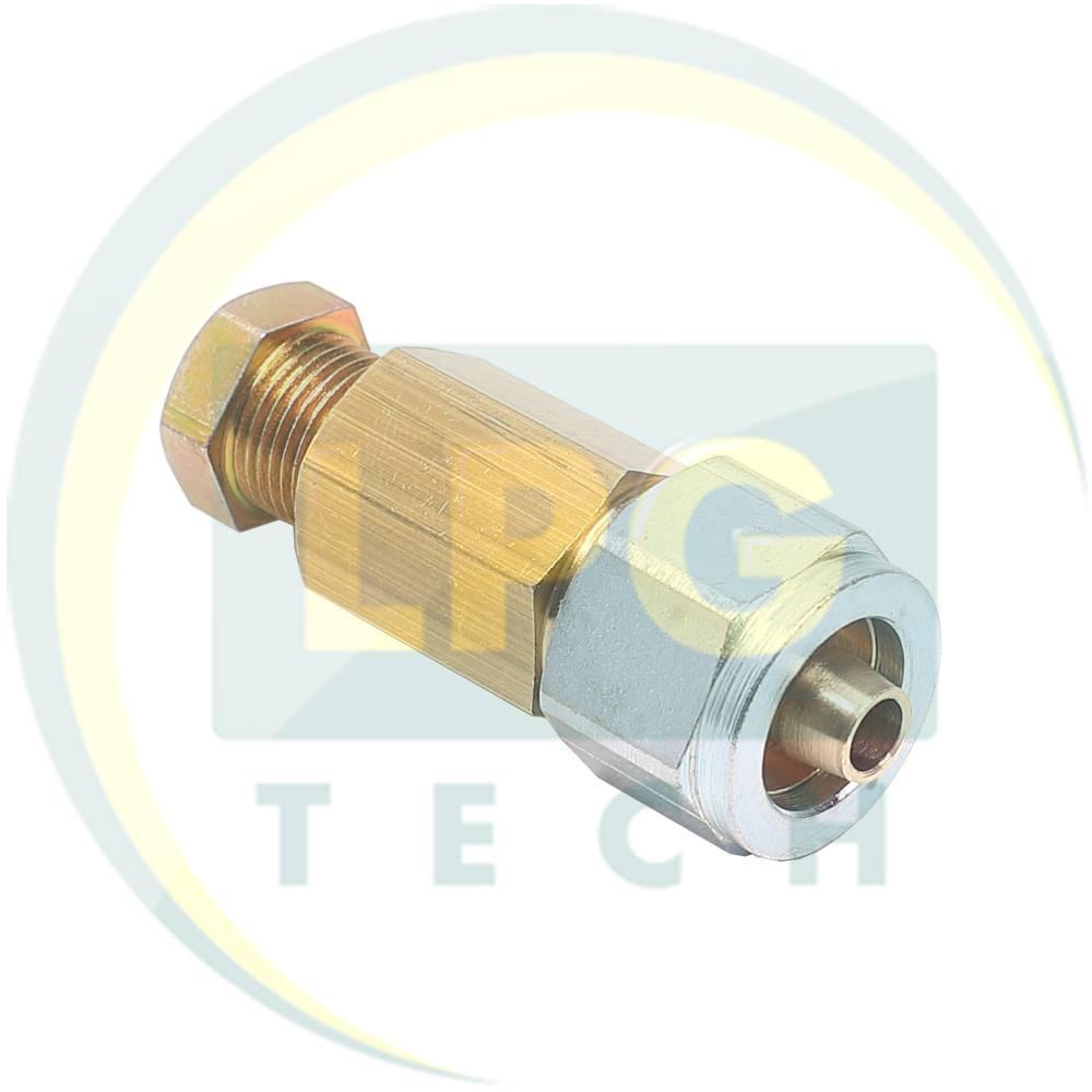 З'єднувач трубки D6 (термопластик) - D8 (мідь)