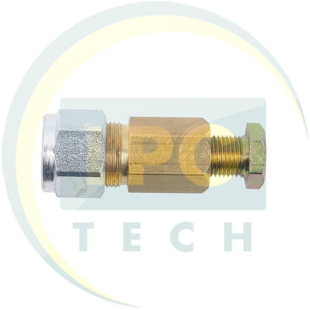 Соединитель трубки D8 (термопластик) - D6 (медь)