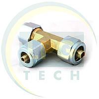 Тройник соединительный термопластик D8 x D6 x D8