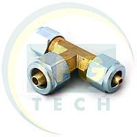 Трійник з'єднувальний термопластиковой трубки D6 x D8 x D6