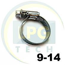 Хомут 9-14 мм HOP для систем впрыска (TRC-02KL-)