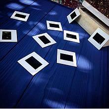 Деревянный фотофон Темно-синий фактурный