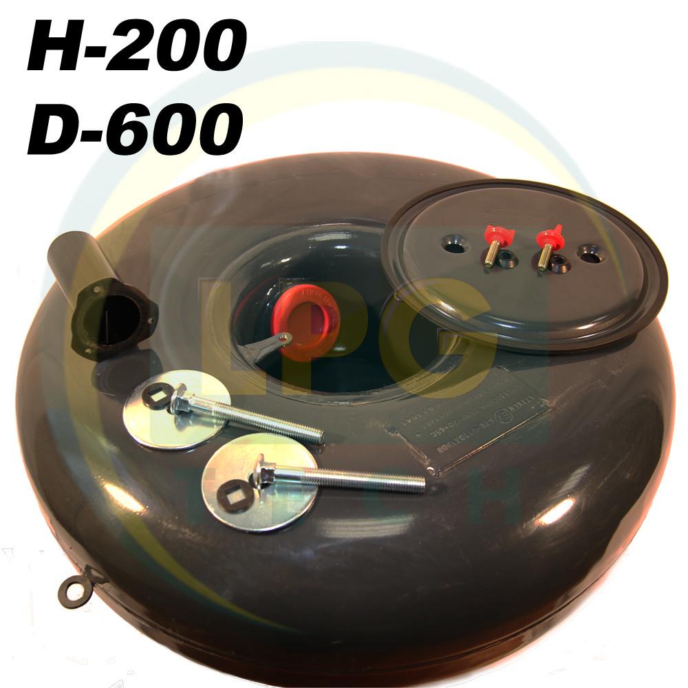 Баллон пропан тороидальный Atiker 43 литра 200х600 мм под запасное колесо