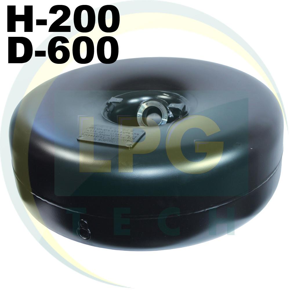 Тороидальный баллон 200 х 600 мм 43 литра Green Gas