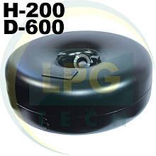 Тороїдальний балон 200 х 600 мм 43 літри Green Gas