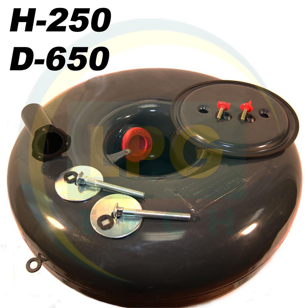 Баллон пропан Atiker 67 литров 250х650 мм под запасное колесо