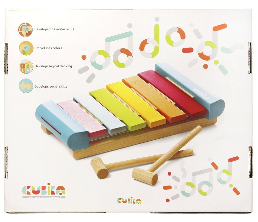 Дерев'яний музичний інструмент Левеня Cubika Ксилофон LKS-2 3 деталі (14033) (4823056514033)