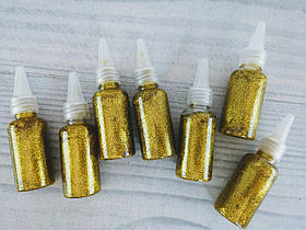 Клей С блеском В бутылочке золотистый 3-248 95377