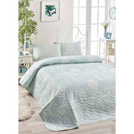 Покрывало 200х220 с наволочками на кровать, диван Королевская мята, фото 2