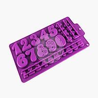 Силиконовая форма для шоколада - Цифры и знаки