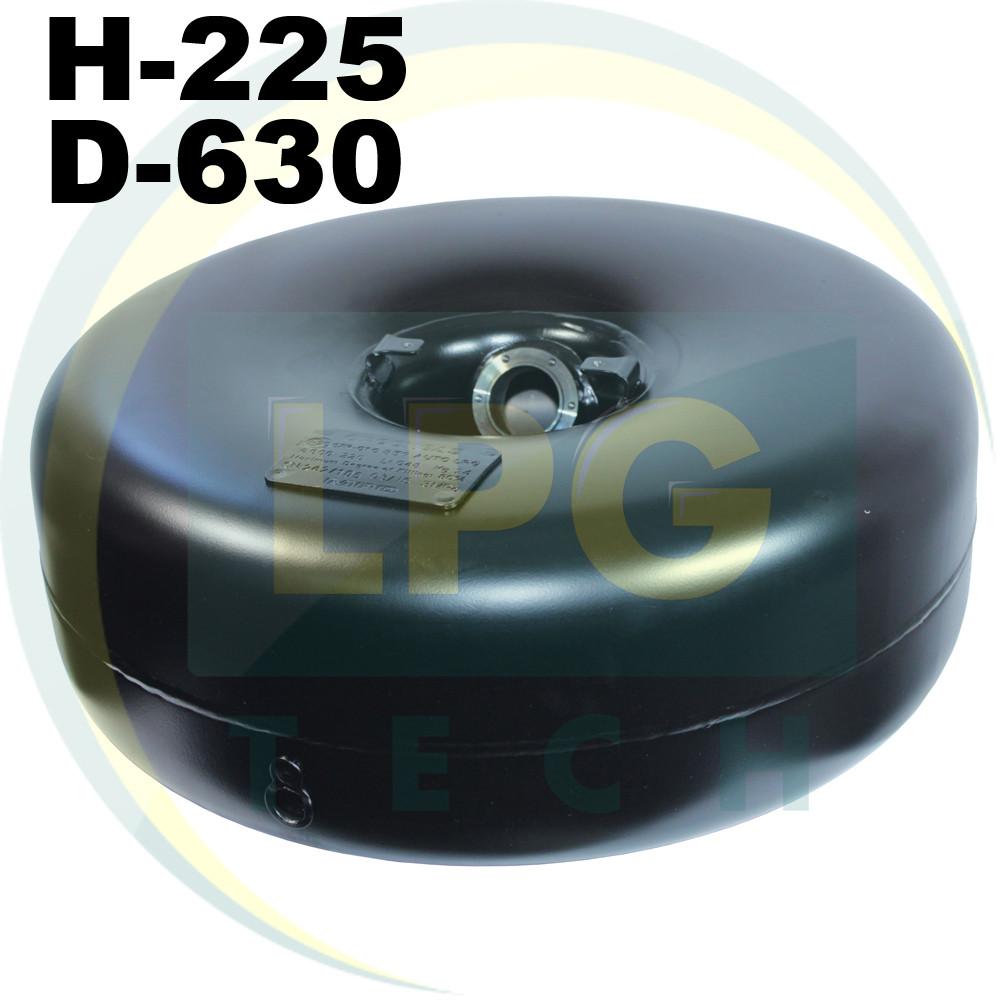Баллон пропан тороидальный Novogas 54 литра под запасное колесо 225х630 мм (ГЛИУ.350.00.00-06)