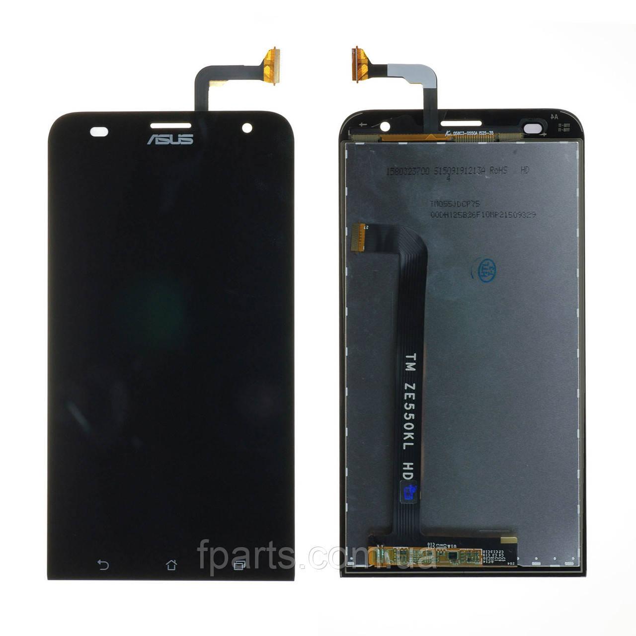 Дисплей Asus ZenFone 2 Laser (ZE550KL, Z00LD), з тачскріном, Black