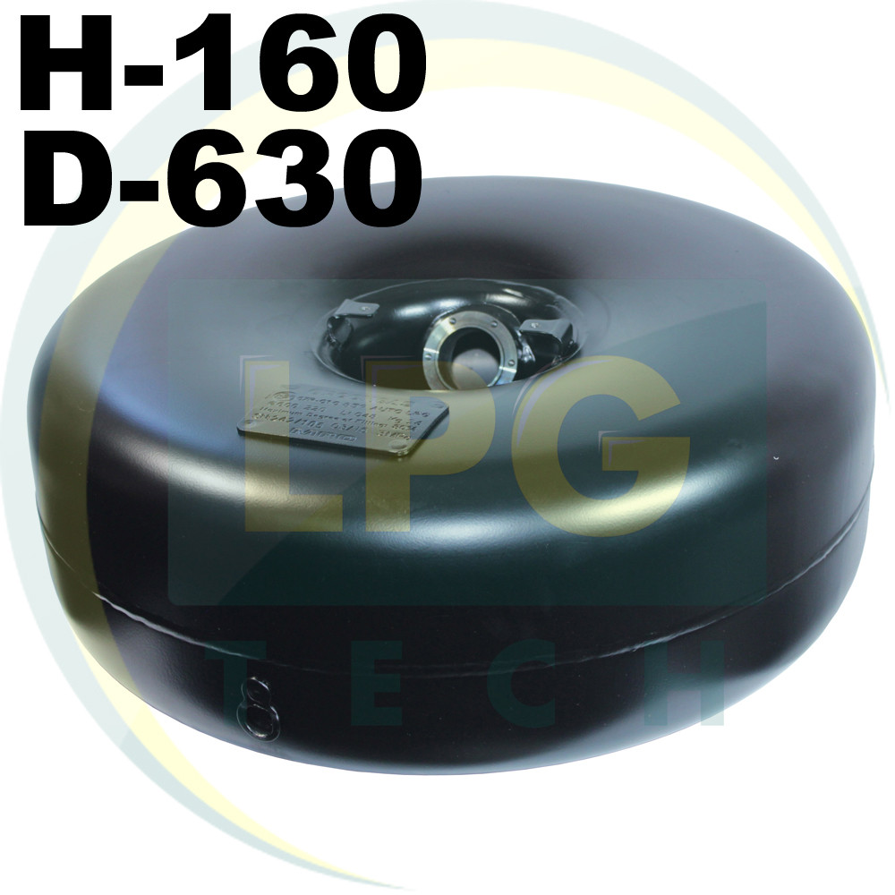 Тороидальный баллон Green Gas 37 литров 160х630 мм