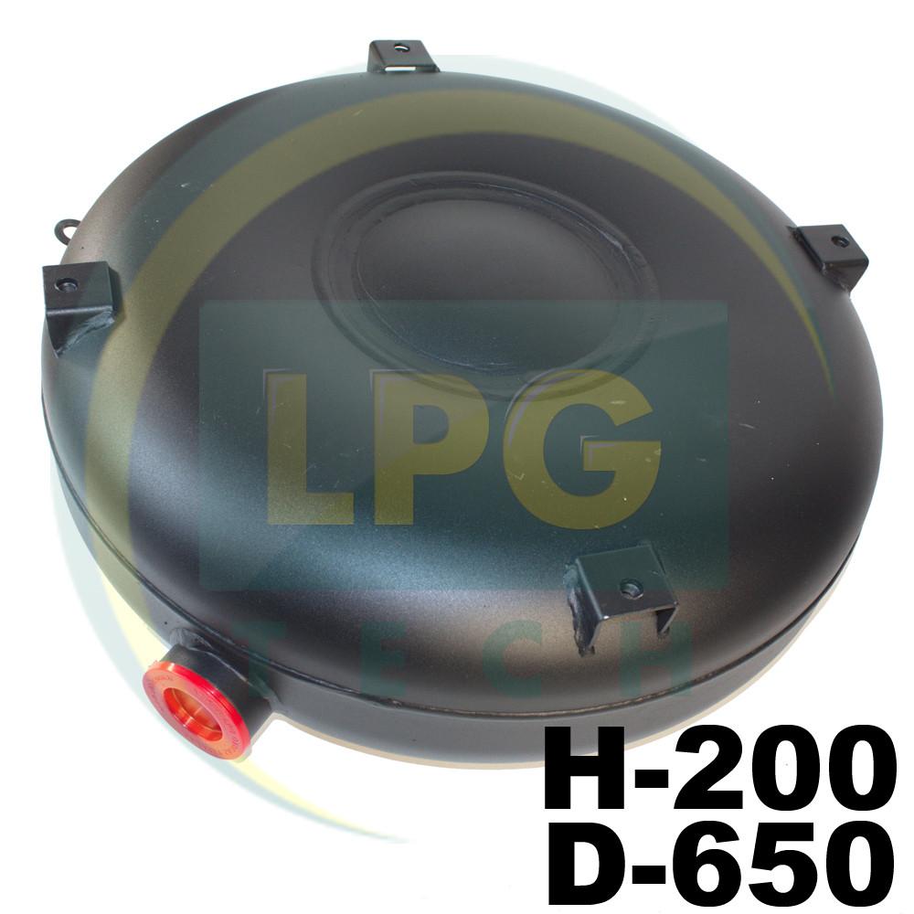 Баллон Atiker 53 литра 200х650 мм под запасное колесо наружный полнотелый