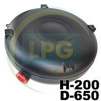 Баллон Atiker 53 литра 200х650 мм под запасное колесо наружный полнотелый, фото 1