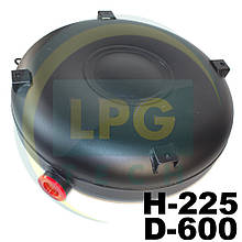 Баллон Atiker 51 литр 225х600 мм под запасное колесо пропан наружный полнотелый