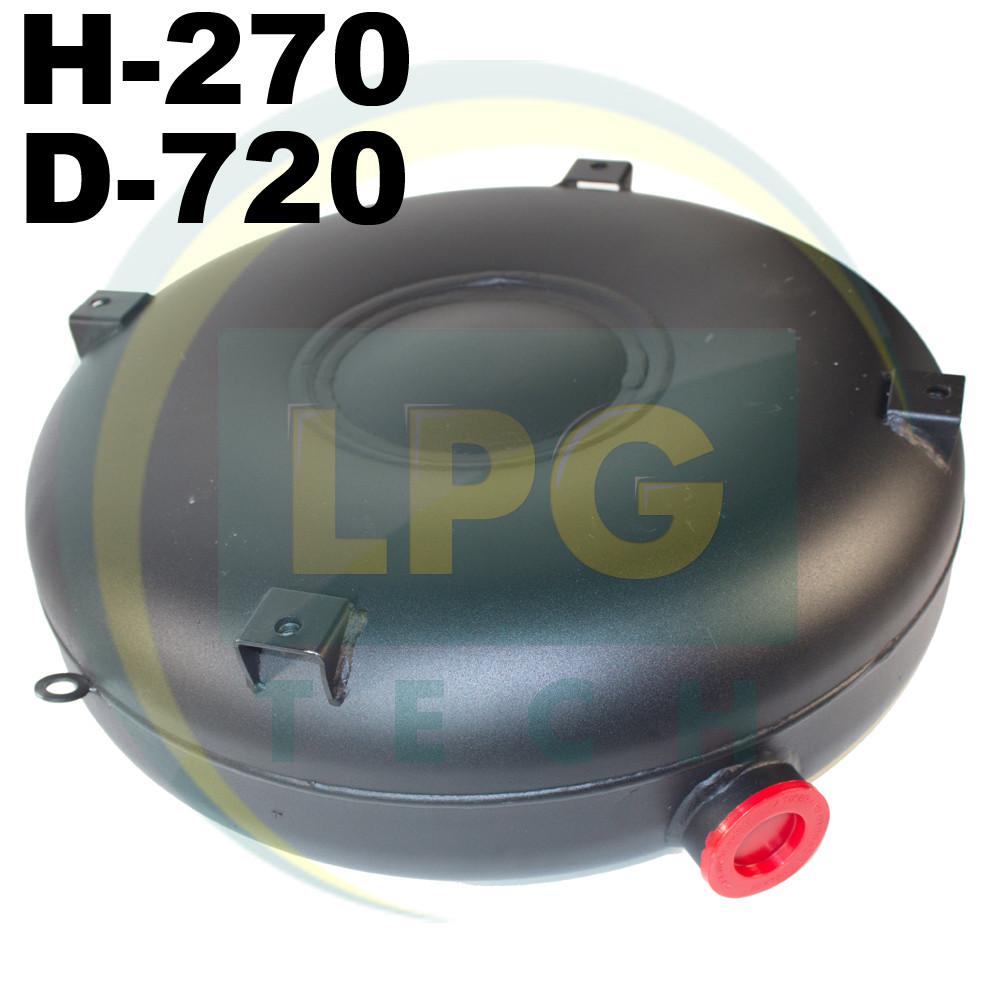 Баллон пропан Atiker 92 литра 270х720 мм под запаску наружный полнотелый