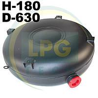 Баллон пропан Atiker 45 литров 180х630 мм под запасное колесо наружный полнотелый, фото 1