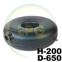 Баллон пропановый Atiker 51 литр 200х650 мм под запасное колесо наружный, фото 1
