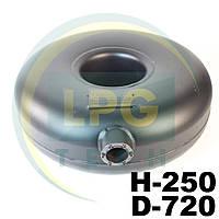 Баллон газовый Atiker 62 литра 250х630 мм под запасное колесо наружный, фото 1