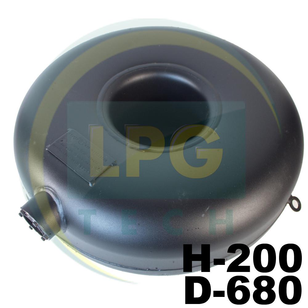 Баллон пропановый Atiker 57 литров 200х680 мм под запасное колесо наружный