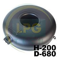Баллон пропановый Atiker 57 литров 200х680 мм под запасное колесо наружный, фото 1