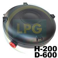 Тороидальный баллон наружный Green Gas 200х600 мм 45 литров полнотелый