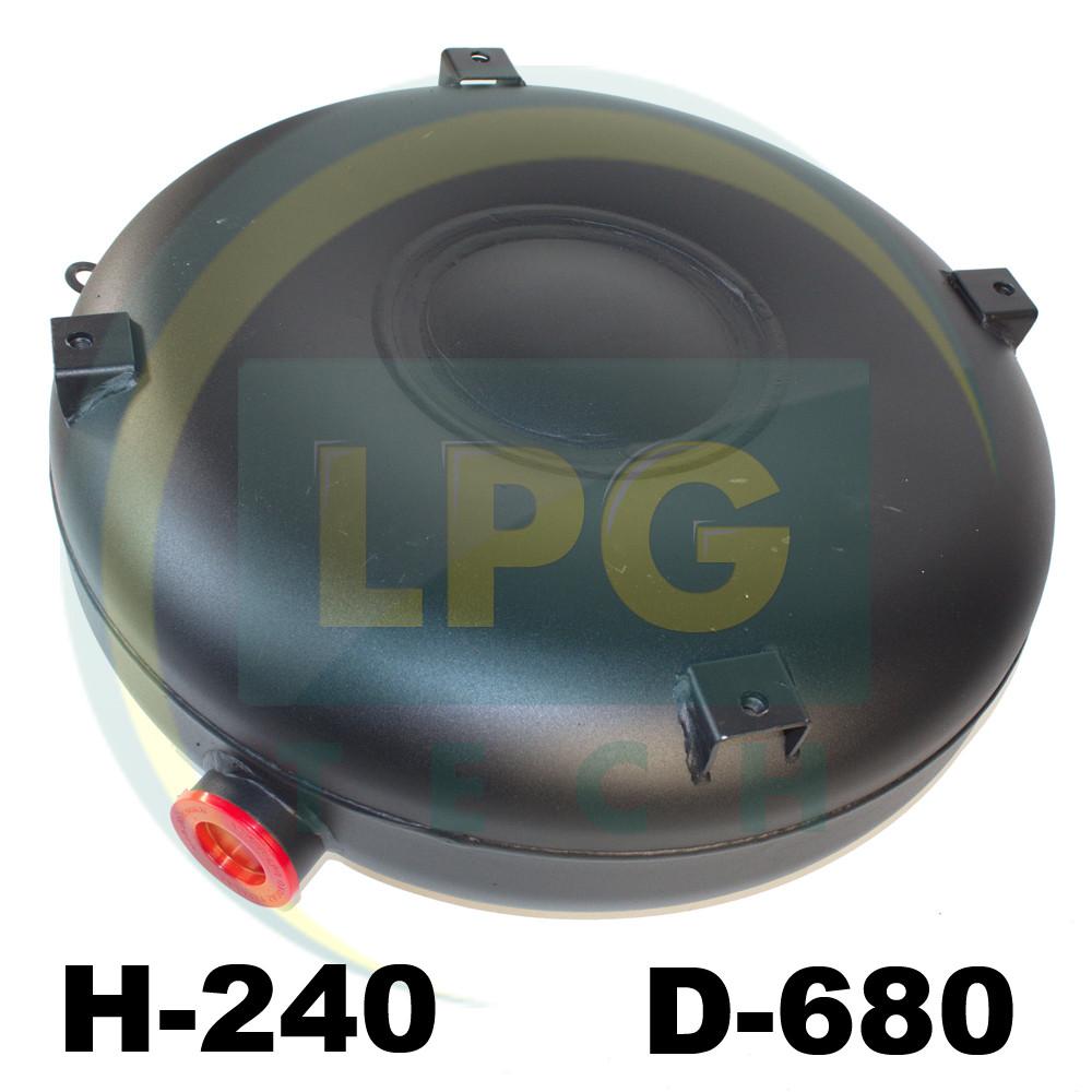 Тороидальный баллон наружный 240х680 мм 72 литра полнотелый Green Gas