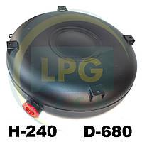 Тороидальный баллон наружный 240х680 мм 72 литра полнотелый Green Gas, фото 1