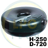 Тороидальный баллон наружный Green Gas 250х720 мм 80 литров